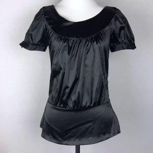 Zara Basic Blouse Women's Small Black Shirt Top